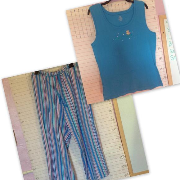Adonna Other - ADONNA women's pjs top and bottoms .. sz XL Blue